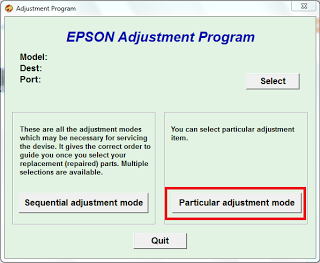 particular adjustment program