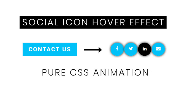 Awesome Social Media Icon hover effect using html and css