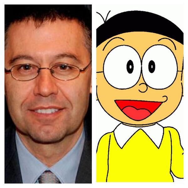 Doraemon Real: Jonhy Culé: Que Suerte Tiene Nobita (Bartomeu) De Tener A