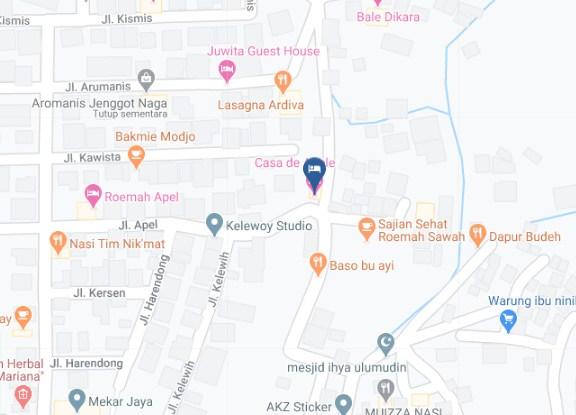 Map Letak Hotel Casa De Apple Bandung