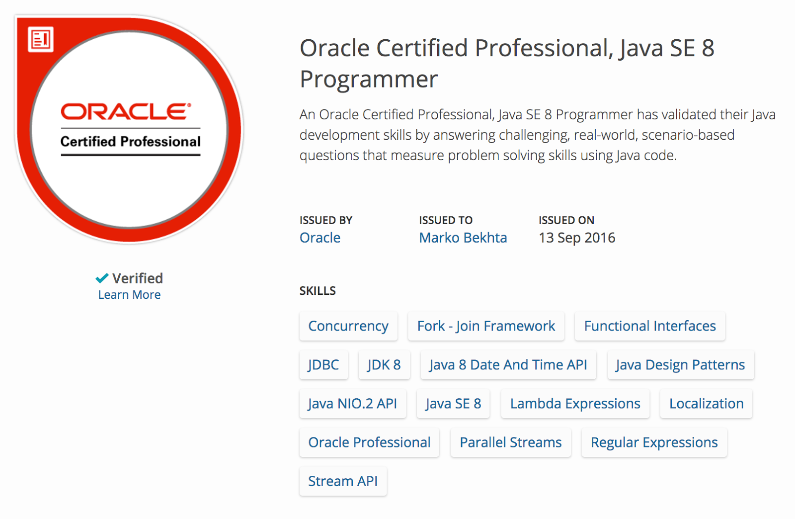 Oracle Certified Professional Java Se 78 Programmer That Java Guy