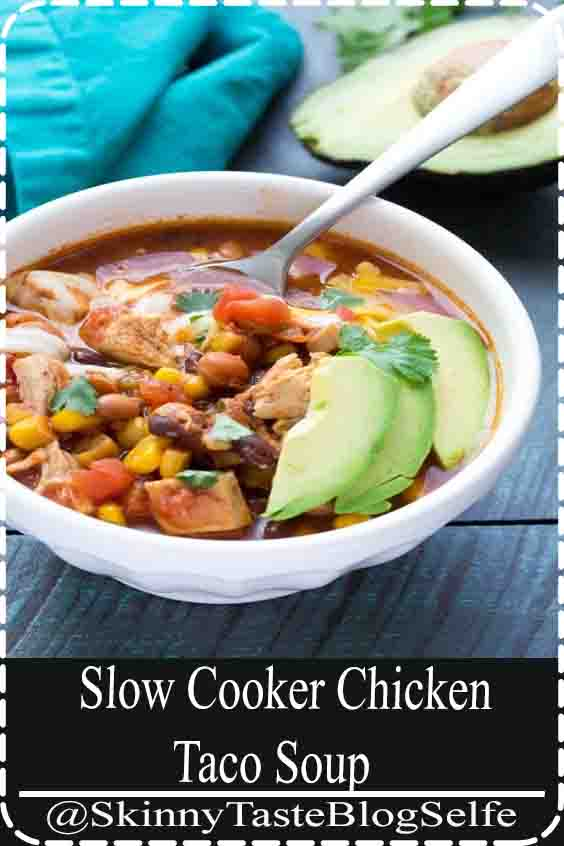 4.9 | ★★★★★ EASIEST Slow Cooker Chicken Taco Soup! This dump and go crock pot recipe requires no chopping. A healthy family dinner that's quick to prep. One of the best simple crockpot recipes! #slowcooker #crockpot #chicken #chickenrecipes #Soup