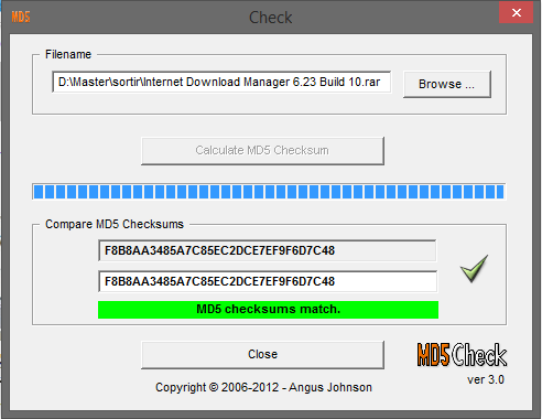 md5 checksum