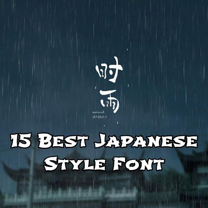 15 Font Terbaik bernuansa Jepang