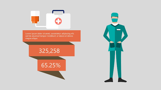 Free Infographic Powerpoint Templates used in Medical Presentation with Emergency equipment