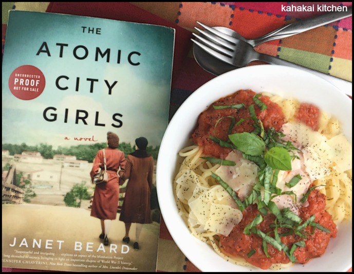 Kahakai kitchen the book tour stops here a review of the atomic accompanying my review of this interesting and engaging world war ii historical fiction book is a recipe for spaghetti with marcella hazans famous tomato forumfinder Image collections