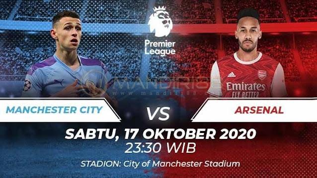 Prediksi Manchester City Vs Arsenal, Sabtu 17 Oktober 2020 Pukul 23.30 WIB @ Mola TV