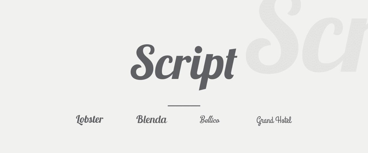 Mengenal Jenis-jenis Font - Script Font