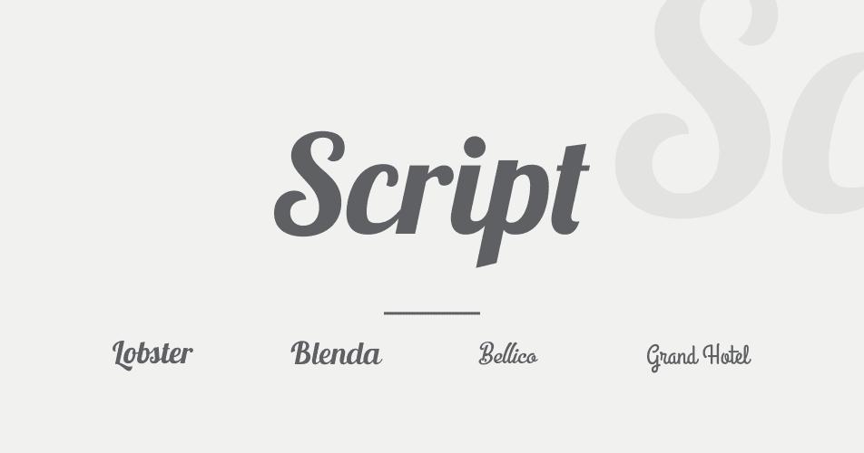 mengenal tipografi 06 jenis font script