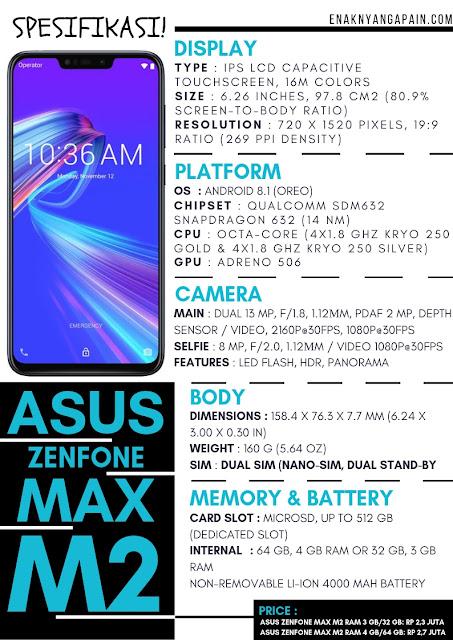 ASUS Zenfone Max M2 Spesifikasi