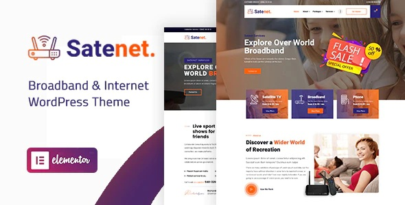 Broadband & Internet Website Theme
