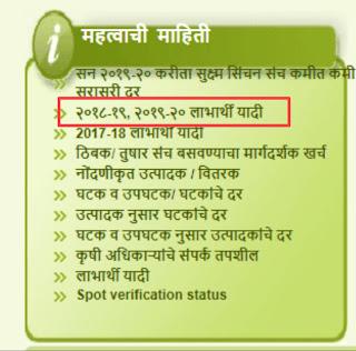 ठिबक सिंचन योजनेची लाभार्थी यादी अशी पहा thibak sinchan yojana labharthi yadi, benificery list of thibak sinchan yojana