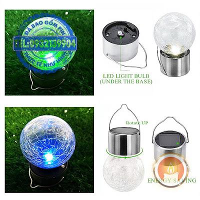Đèn led chống nước sạc pin năng lượng