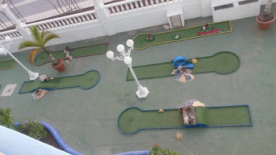 Mini Golf at the Mediterranean Palace Hotel in Tenerife by Jason Mayne