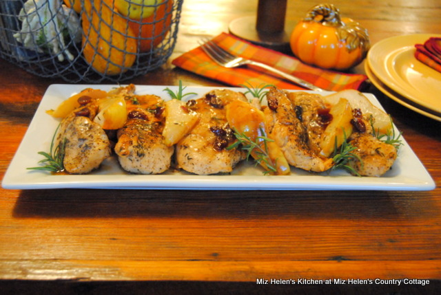 Balsamic Pears & Chicken at Miz Helen's Country Cottage