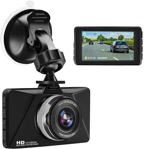 Review Jimwey Full HD Dash Cam 3 inch Dashboard Camera