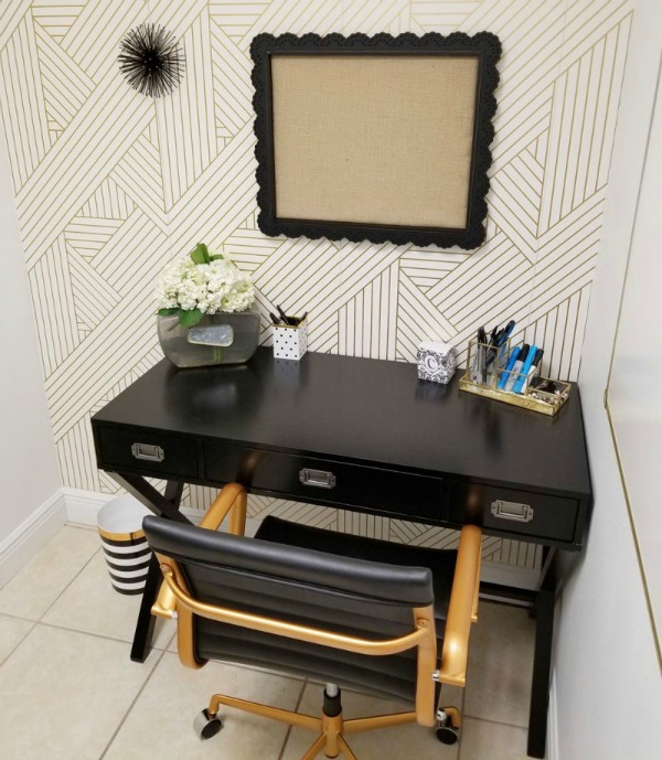 create a home office in a tiny space
