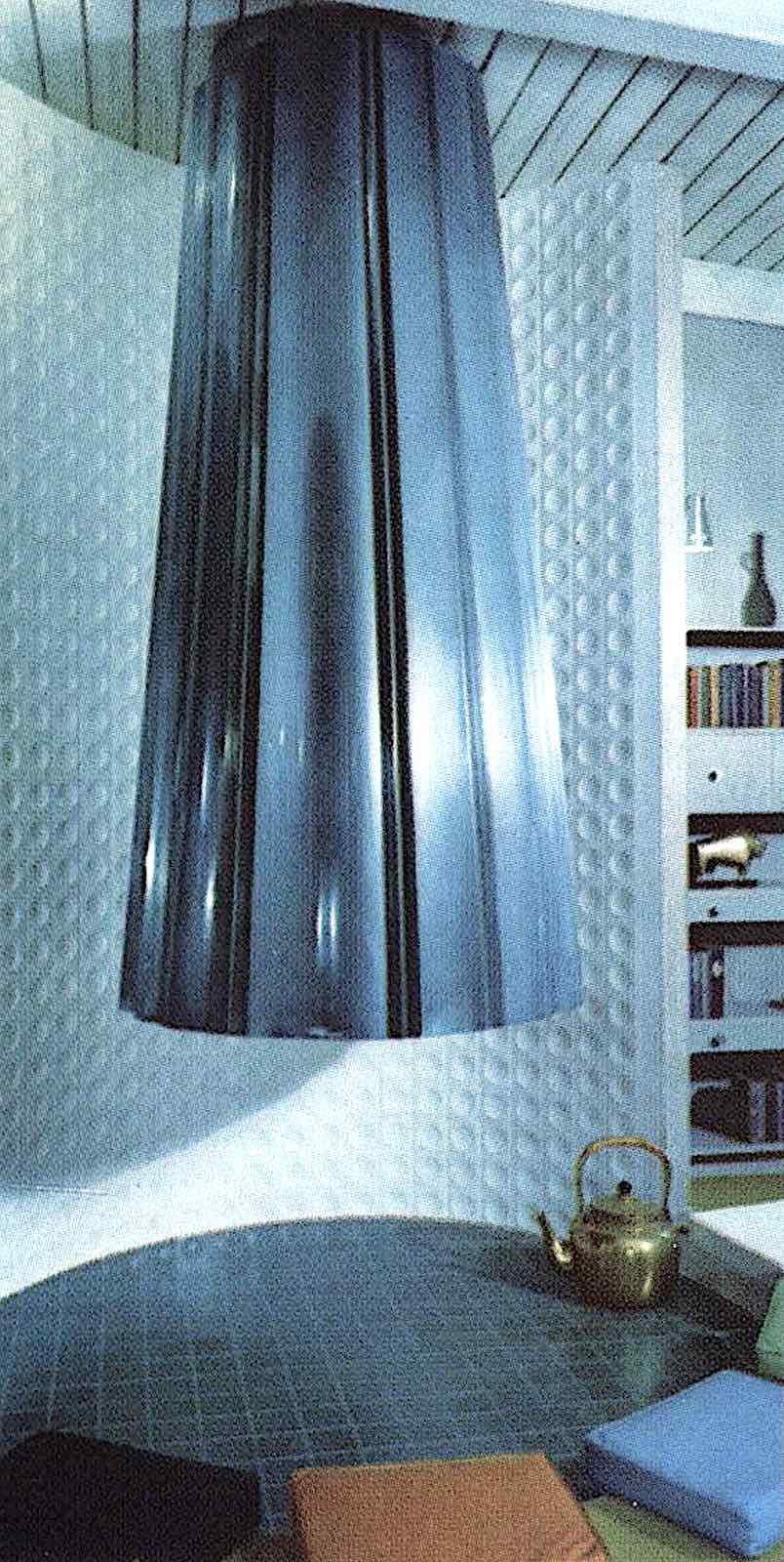 a 1961 entertaining and cooking vent in blue tile