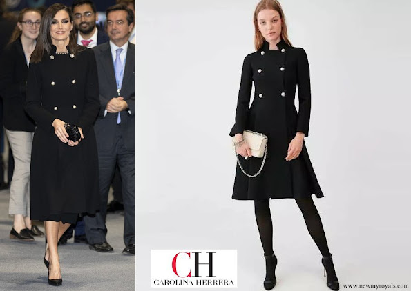 Queen Letizia wore Carolina Herrera wool coat