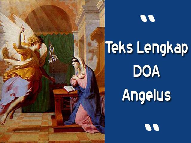 bunda maria dan malaikat, doa angelus katolik