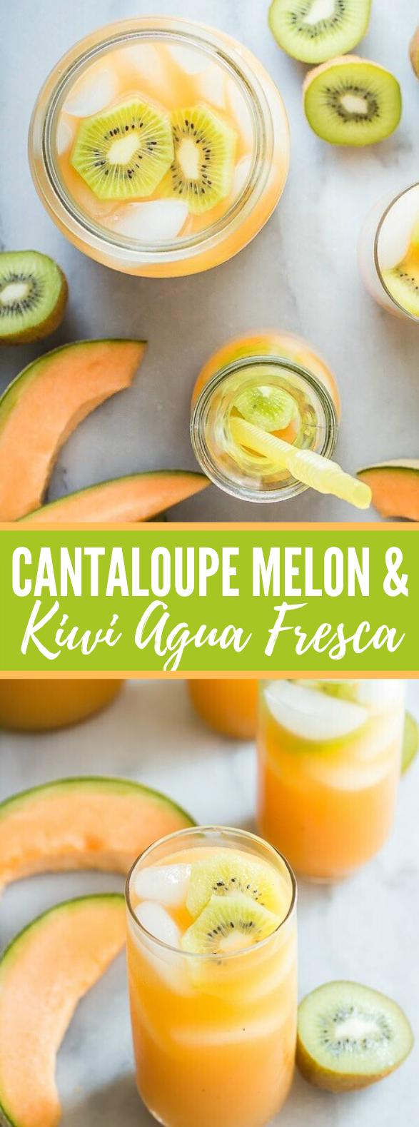 CANTALOUPE MELON AND KIWI AGUA FRESCA #drinks #summerday