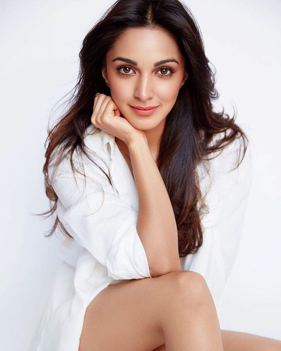 Kiara Advani cute photoshoot in white shirt