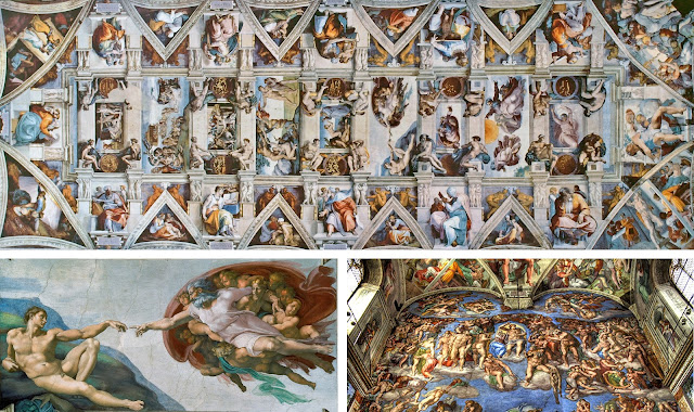 The vatican, vatican city, michaelangelo, the sistene chapel, the final judgement, creation of adam, renaissance painting, church mura