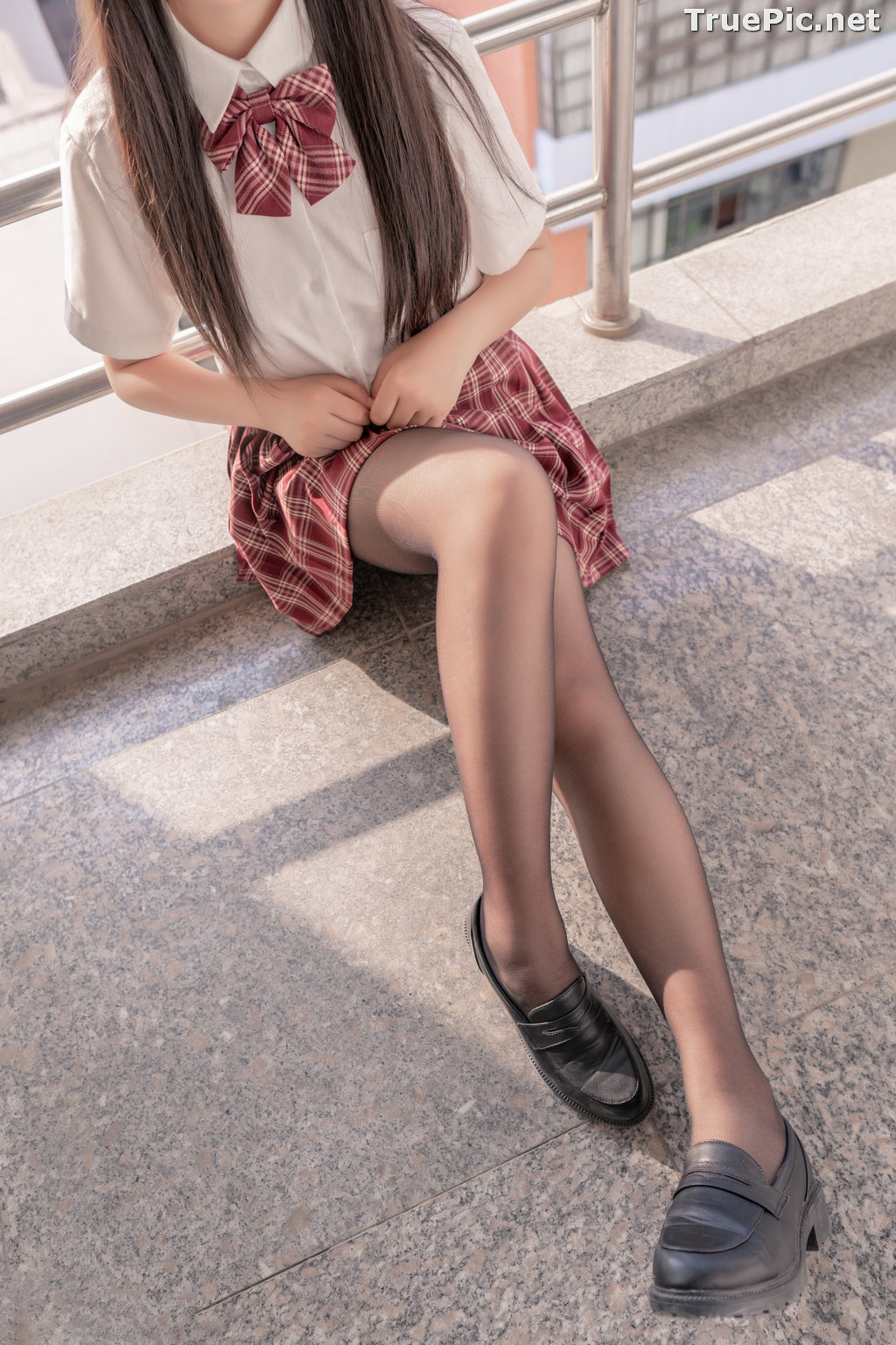 Image [MTCos] 喵糖映画 Vol.023 – Chinese Cute Model – Long Hair JK Girl - TruePic.net - Picture-2