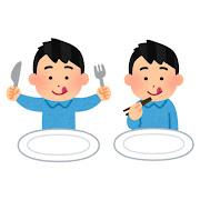 食事をする人のイラスト(男性)