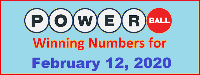 PowerBall Winning Numbers for Wednesday, February 12, 2020