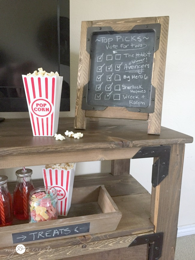 DIY Chalkboard Easel, MyLove2Create