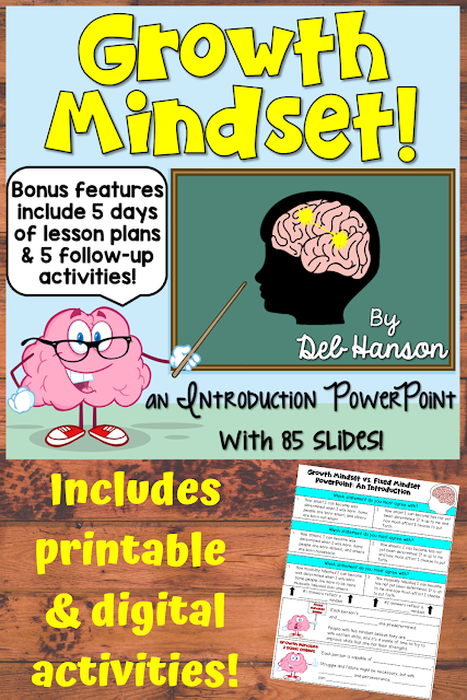 Growth Mindset PowerPoint and worksheets. This file includes directions on how to split this PowerPoint into a 5-day mini-unit... perfect for back-to-school time. Five growth mindset worksheets are also included!