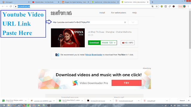Download Youtube Video without Install any Software, Youtube Video Download trick