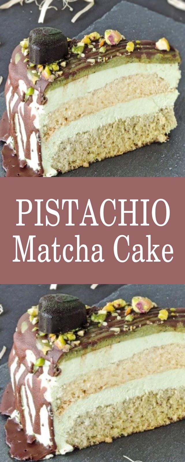 Pistachio Matcha Cake #cakes