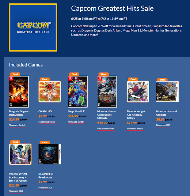 Capcom Greatest Hits Sale June 2020 Nintendo eshop