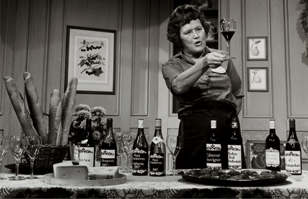 Julia Child and wine