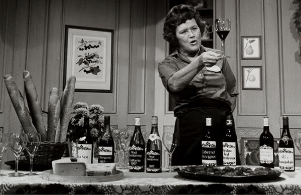 Julia Child and wine