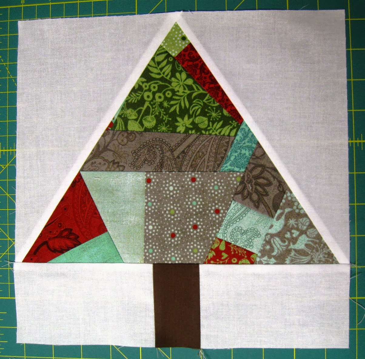 Happy Quilting: Paper Pieced Improv Trees & O Christmas ...