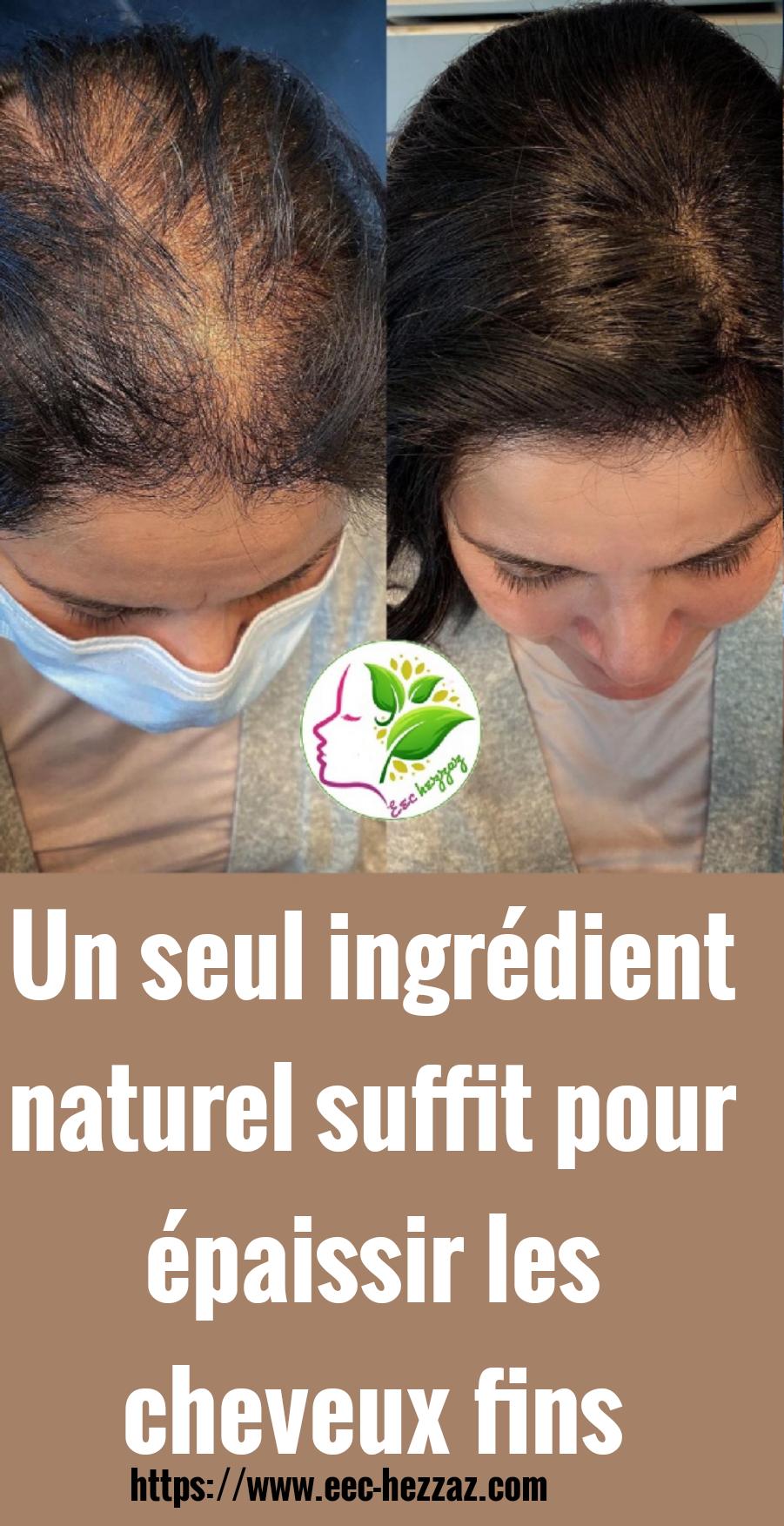 Un seul ingrédient naturel suffit pour épaissir les cheveux fins