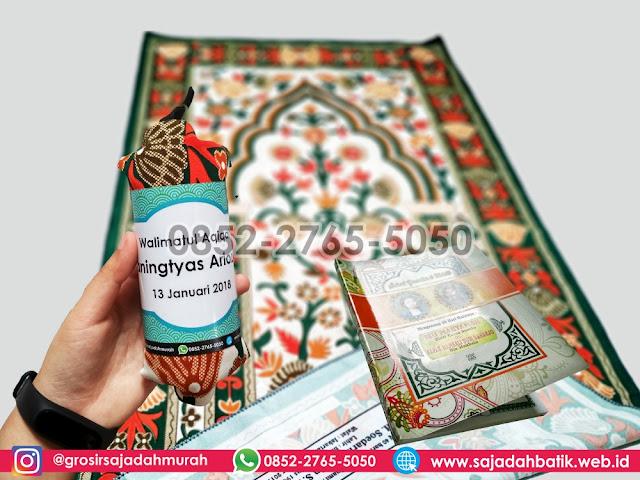 sajadah souvenir tahlilan, souvenir sajadah batik, 0852-2765-5050