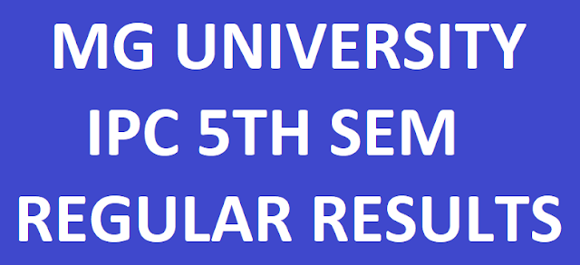 MG University IPC 5th Sem Regular Exam Results