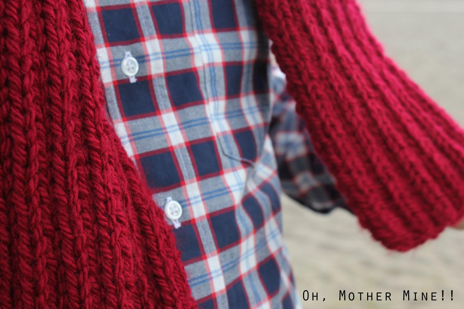 nuevo producto 533a6 b904a DIY Cómo hacer una bufanda para hombre     Oh, Mother Mine DIY!!