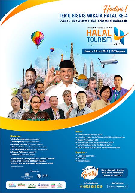 Hadiri Temu Bisnis Wisata Halal Ke-4 Di JCC Senayan Jakarta, 19 Juni 2019.
