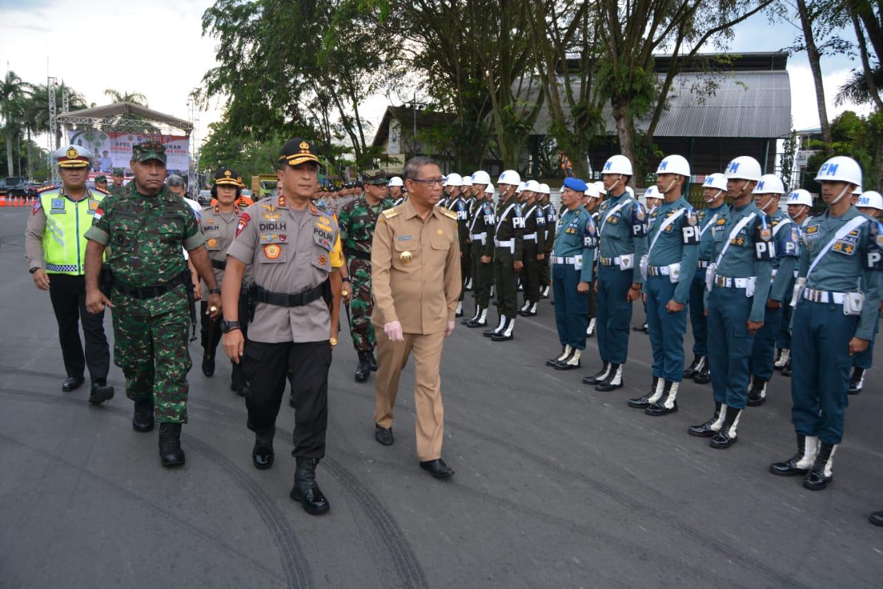 Kapolda Kalbar dan Pangdam XII/Tpr Pimpin Apel Gelar Pasukan Operasi Ketupat Kapuas 2019