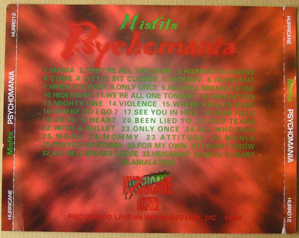 RELIQUARY: Misfits [1982.02.28] Psychomania (Washington