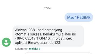 Paket Internet Paling Murah 2GB Rp 1,500 Ful Work All Simcard 3
