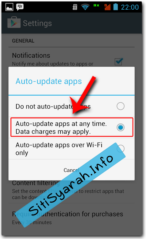 update aplikasi otomatis android