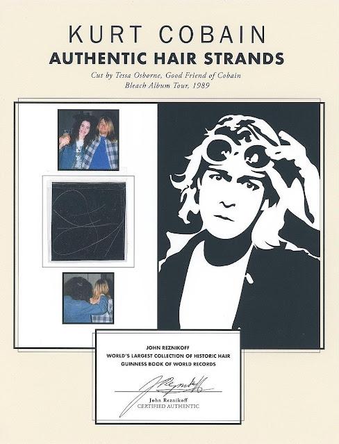 I capelli di Curt Cobain vanno all'asta in Inghilterra