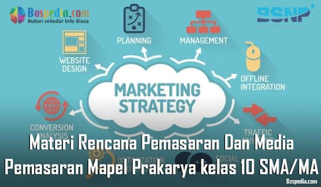 Materi Rencana Pemasaran Dan Media Pemasaran Mapel Prakarya kelas 10 SMA/MA