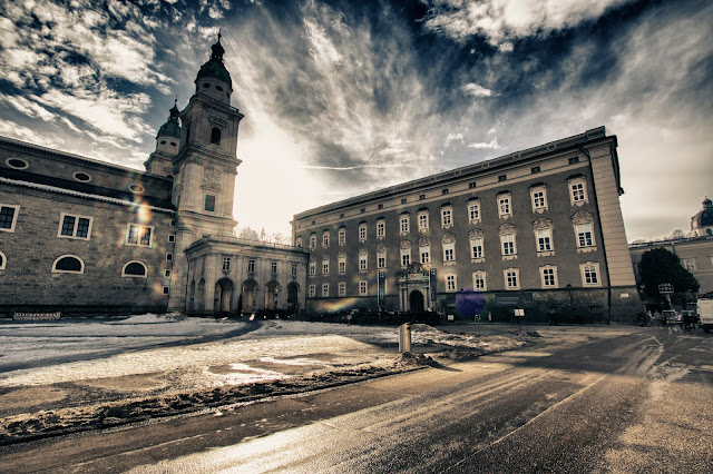 Mozartplatz e Duomo-Salisburgo